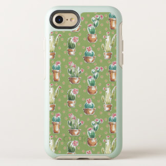 Coque Otterbox Symmetry Pour iPhone 7 Motif vert d'étape | de fleur de désert