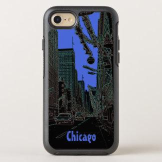Coque Otterbox Symmetry Pour iPhone 7 Noël de rue d'état de Chicago @ 1967 bords