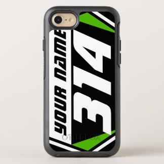Coque Otterbox Symmetry Pour iPhone 7 Nombre de emballage de MX de vélo de saleté - vert