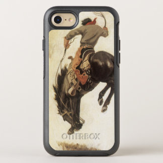 Coque Otterbox Symmetry Pour iPhone 7 Occidental vintage, cowboy sur un cheval