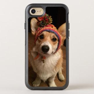 Coque Otterbox Symmetry Pour iPhone 7 Pembroke de corgi de Gallois utilisant un