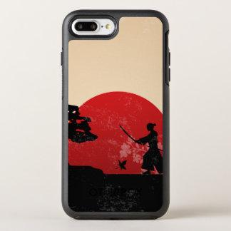 Coque Otterbox Symmetry Pour iPhone 7 Plus Beau cas samouraï japonais de téléphone du coucher