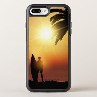 Coque Otterbox Symmetry Pour iPhone 7 Plus Beau cas tropical de téléphone du surfer   de