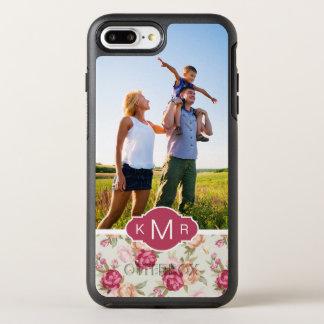 Coque Otterbox Symmetry Pour iPhone 7 Plus Beau motif de photo et de pivoine de monogramme