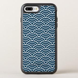 Coque Otterbox Symmetry Pour iPhone 7 Plus Belle caisse bleue de téléphone du monogramme | de