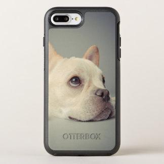 Coque Otterbox Symmetry Pour iPhone 7 Plus Bouledogue français ennuyé