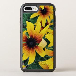 Coque Otterbox Symmetry Pour iPhone 7 Plus Caisse jaune de téléphone de fleur d'été