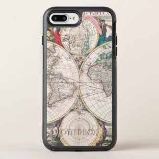 Coque Otterbox Symmetry Pour iPhone 7 Plus Carte antique du monde de Double-Hémisphère