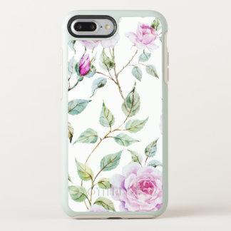 Coque Otterbox Symmetry Pour iPhone 7 Plus Cas élégant de téléphone de feuille et de roses |