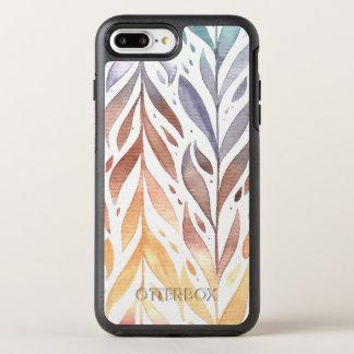 Coque Otterbox Symmetry Pour iPhone 7 Plus Cas élégant de téléphone du feuille d'automne