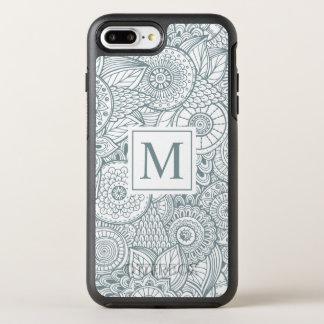 Coque Otterbox Symmetry Pour iPhone 7 Plus Cas floral abstrait élégant de téléphone du