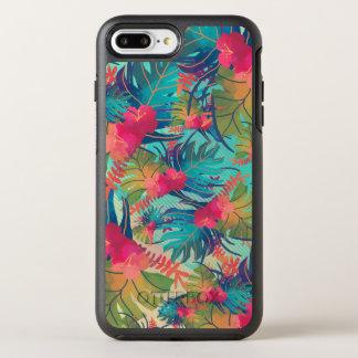 Coque Otterbox Symmetry Pour iPhone 7 Plus Cas floral tropical de téléphone de l'aquarelle |