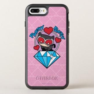 Coque Otterbox Symmetry Pour iPhone 7 Plus Catwoman de Chibi s'asseyant placé sur le grand