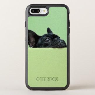 Coque Otterbox Symmetry Pour iPhone 7 Plus Chiot de bouledogue français scrutant au-dessus du