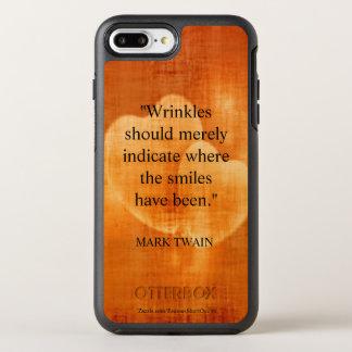 Coque Otterbox Symmetry Pour iPhone 7 Plus Citation d'anniversaire de Mark Twain avec des