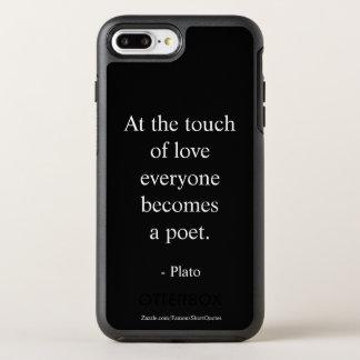 Coque Otterbox Symmetry Pour iPhone 7 Plus Citation de Platon ; Le contact de l'amour