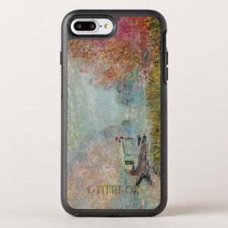 Coque Otterbox Symmetry Pour iPhone 7 Plus Claude Monet | le studio de bateau sur la Seine,