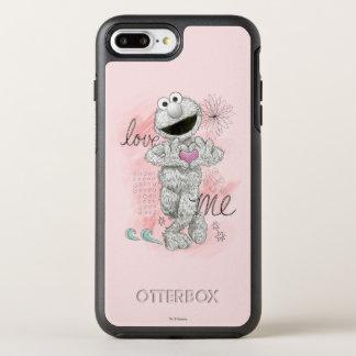 Coque Otterbox Symmetry Pour iPhone 7 Plus Dessin de croquis d'Elmo B&W