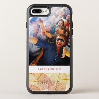 Coque Otterbox Symmetry Pour iPhone 7 Plus Feuille d'automne de photo et de textes