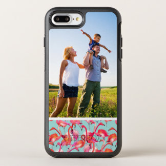Coque Otterbox Symmetry Pour iPhone 7 Plus Flamants d'aquarelle de photo recueillis