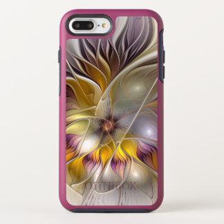 Coque Otterbox Symmetry Pour iPhone 7 Plus Fractale moderne de fleur colorée abstraite