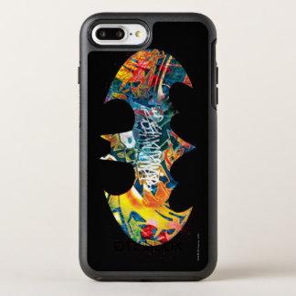 Coque Otterbox Symmetry Pour iPhone 7 Plus Graffiti du logo Neon/80s de Batman