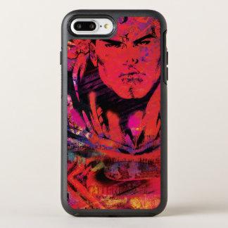 Coque Otterbox Symmetry Pour iPhone 7 Plus Grunge de rouge de Superman