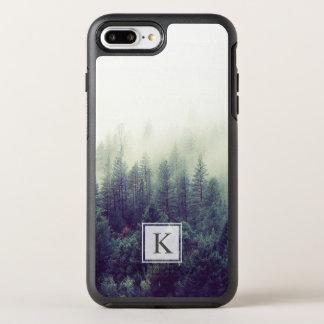 Coque Otterbox Symmetry Pour iPhone 7 Plus Initiale chic moderne de monogramme de forêt de