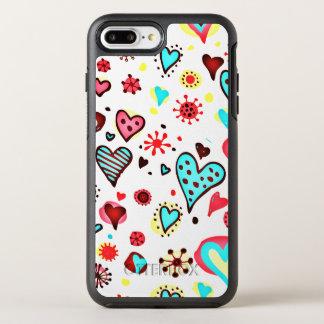 Coque Otterbox Symmetry Pour iPhone 7 Plus Je t'aime coeurs