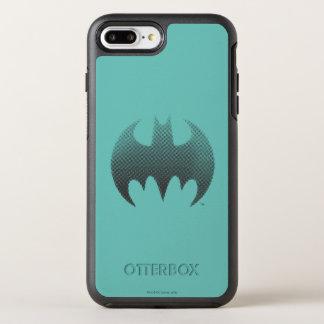 Coque Otterbox Symmetry Pour iPhone 7 Plus Le blanc noir du symbole   de Batman se fanent