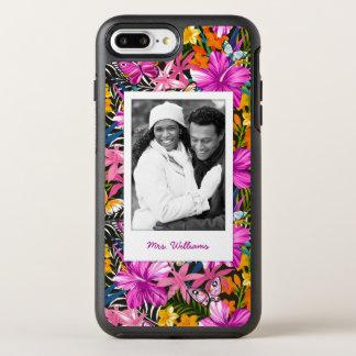 Coque Otterbox Symmetry Pour iPhone 7 Plus Le feuille et les fleurs tropicaux | ajoutent