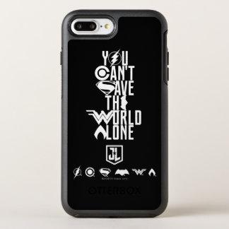 Coque Otterbox Symmetry Pour iPhone 7 Plus Ligue de justice | vous ne pouvez pas sauver seul