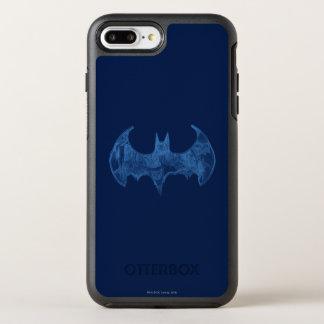Coque Otterbox Symmetry Pour iPhone 7 Plus Logo bleu-clair de carnet à dessins du symbole |
