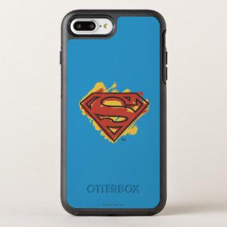 Coque Otterbox Symmetry Pour iPhone 7 Plus Logo bleu d'arrière - plan peint par | de