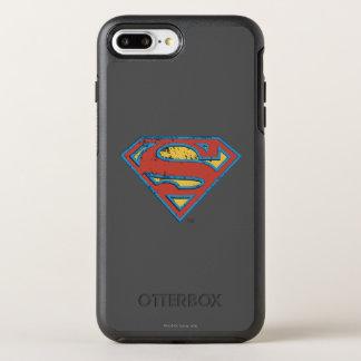Coque Otterbox Symmetry Pour iPhone 7 Plus Logo bleu de grunge d'ensemble du S-Bouclier | de