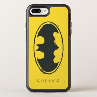 Coque Otterbox Symmetry Pour iPhone 7 Plus Logo de blanc de noir de jet du symbole | de