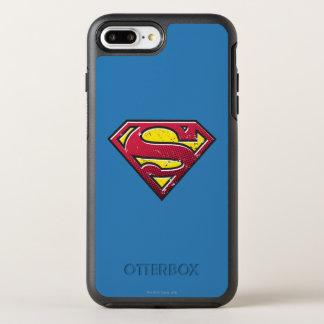 Coque Otterbox Symmetry Pour iPhone 7 Plus Logo d'éraflures du S-Bouclier | de Superman