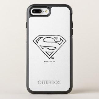 Coque Otterbox Symmetry Pour iPhone 7 Plus Logo noir simple d'ensemble du S-Bouclier   de