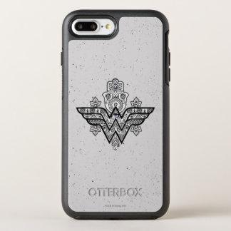 Coque Otterbox Symmetry Pour iPhone 7 Plus Logo spirituel de Paisley Hamsa de femme de