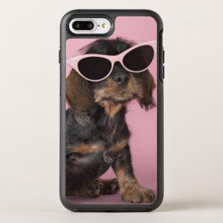Coque Otterbox Symmetry Pour iPhone 7 Plus Lunettes de soleil de port de chiot de teckel