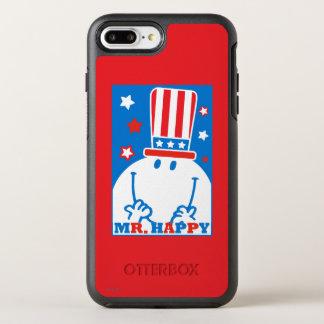 Coque Otterbox Symmetry Pour iPhone 7 Plus M. Happy With Patriotic Hat