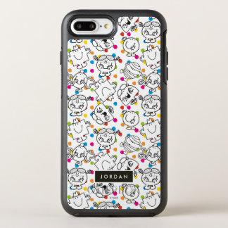 Coque Otterbox Symmetry Pour iPhone 7 Plus M. Men et petit motif de pois d'arc-en-ciel de la