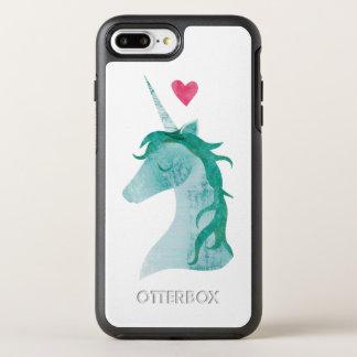 Coque Otterbox Symmetry Pour iPhone 7 Plus Magie bleue de licorne avec le coeur