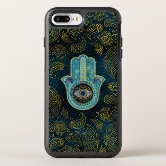 Coque Otterbox Symmetry Pour iPhone 7 Plus Main décorative de Hamsa avec l'arrière - plan de
