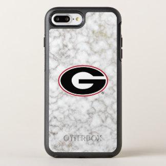 Coque Otterbox Symmetry Pour iPhone 7 Plus Marbre du logo   de bouledogues de la Géorgie