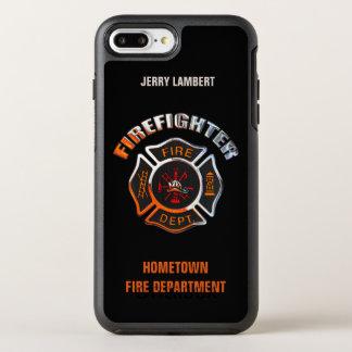Coque Otterbox Symmetry Pour iPhone 7 Plus Modèle de nom de sapeur-pompier de chrome