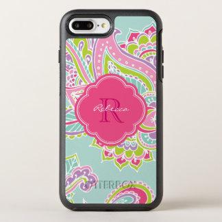 Coque Otterbox Symmetry Pour iPhone 7 Plus Monogramme de Bohème coloré de Paisley