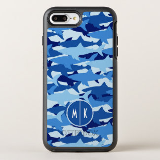 Coque Otterbox Symmetry Pour iPhone 7 Plus Monogramme du motif | de requin bleu