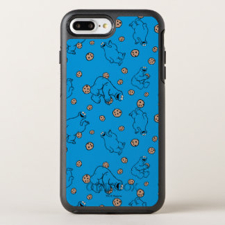 Coque Otterbox Symmetry Pour iPhone 7 Plus Monstre de biscuit et motif bleu de biscuits