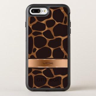 Coque Otterbox Symmetry Pour iPhone 7 Plus Motif de léopard stylisé par tons de cuivre